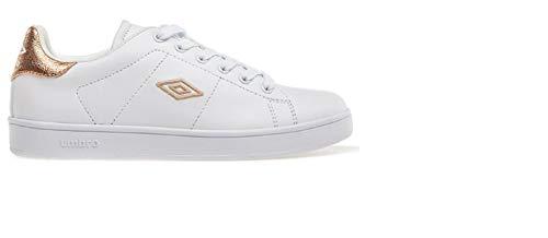 Umbro Sneaker Damen synthetisches Leder Wimbledon 37008, Weiß - White/Gold - Größe: 36 EU
