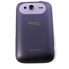 Tapa del compartimiento de la batería Original para HTC Wildfire S, color morado