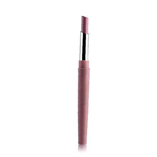 Yililay Barras de Labios, 1pcs Doble dirigieron lápiz Labial de Larga duración Lip Liner Lápiz Labial Lápiz Labial Impermeable Matt Pen Pro cosmético para Muchachas de Las Mujeres
