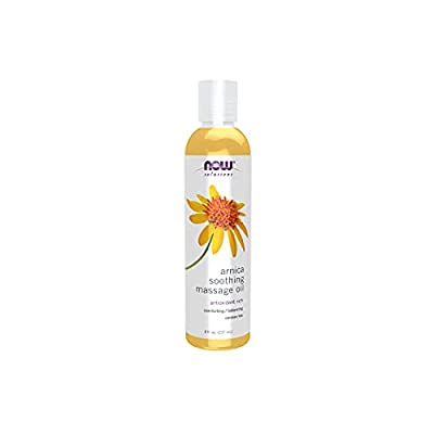 NOW Solutions, Arnica Soothing Massage Oil, Therapeutic and Soothing on Sore, Achy Muscles, 8-Ounce