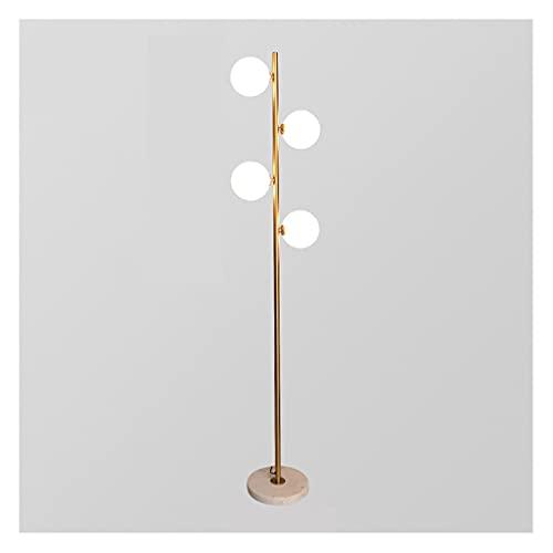 zdz Smart 42W DIRIGIÓ Lámpara de pie, Control Remoto de Metal con Control de Ojos con vigilancia de la luz del Suelo de Metal, para Dormitorio, Sala de Estar (Color : Gold, tamaño : Type B)
