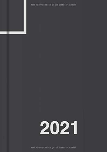 Tagesplaner 2021 DIN A4, Planer groß, 1 Tag - 1 Seite: Tageskalender 21 für 365 Tage, Platz für Termine, Todos, usw., für Freizeit und Business (schwarz)