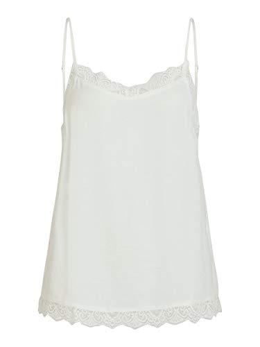 Vila Clothes Vicava Lace Singlet-Noos Camiseta sin Mangas, Blanco (Cloud Dancer Cloud Dancer), 42 (Talla del Fabricante: X-Large) para Mujer