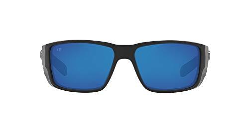 Costa Del Mar Men's 6S9078 Blackfin Pro Polarized Rectangular Sunglasses, Matte Black/Blue Mirrored...