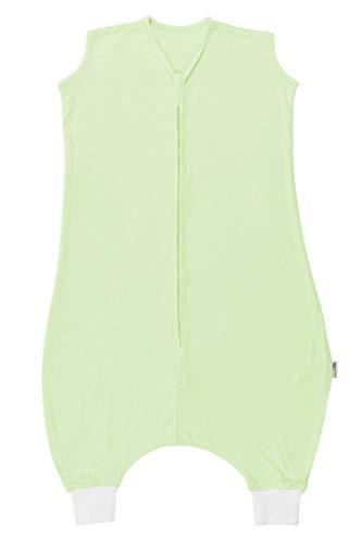 Schlummersack Schlafsack mit Füssen ungefüttert aus Bambus-Baumwolle für den Sommer in 0.5 Tog - Mintgrün - 100 cm