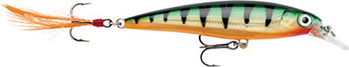 Rapala - X-Rap Angelköder - Angelzubehör mit 3D-Profil - Süßwasser Spinnköder - Schwanzfedern für zusätzliche Reize - Lauftiefe 0.9-1.5m - Fischköder 6cm, 4g - Hergestellt in Estland - Legendary Perch