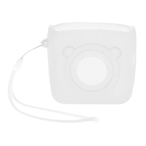 LOVIVER Silicone Portable Thermal Printer Protector Shell Dust-Proof for PeripageA6 - White