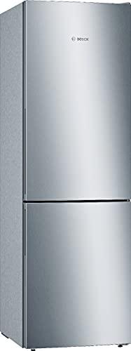 Bosch Elettrodomestici Frigorifero Combinato Serie 6, Frigo-Congelatore Combinato Nofrost XXL, da Libero Posizionamento, 186 x 60 cm, con Inverter Intelligente, Stainless Steel