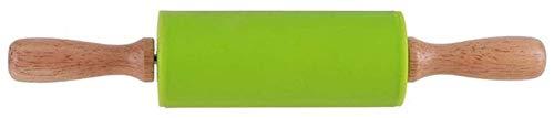 GIAOYAO Rouleau de Silicone à Rouleau antiadhésive avec poignée en Bois Accessoires d'outil de Cuisson Dimensions: 225 x 40mm Simple et Durable