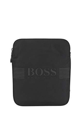 BOSS - Pixel_s Zip Env, Shoppers y bolsos de hombro Hombre, Negro (Black), 1x23.5x19.5 cm (B x H T)