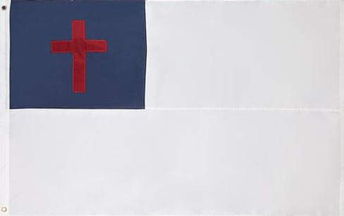 Cascade Point Flags Nylon Vlag (90 CN x 150 CM) Oxford 210D Heavy Duty Nylon, 3x5 Voet, genaaide panelen, geborduurd, duurzaam en duurzaam 4 Stitch Hemming. Levendige kleuren en Fade Resistant. Christian Flag