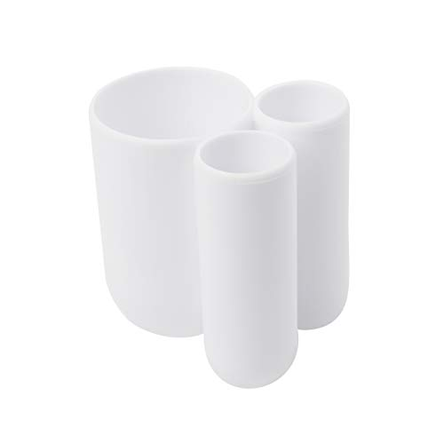 UMBRA Toothbrush Holder Touch. Porte-brosse à dents Touch. Plastique moulé. Coloris blanc. Dimension 8.9x7.6x10.2cm