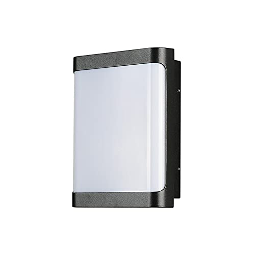Yoaodpei Aplique de pared exterior Lámpara de aluminio Luz de jardín impermeable al aire libre IP54 Lámpara de pared LED Cuerpo Pantalla de acrílico Pasillo Escalera Balcón Luz de soporte de entrada d