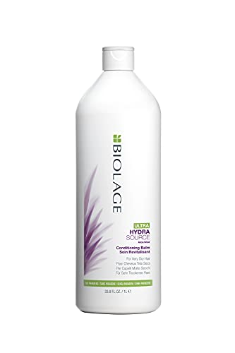 BIOLAGE Ultra Hydrasource Anti-Frizz Conditioning Balm For Very Dry Hair, 33.8 Ounce