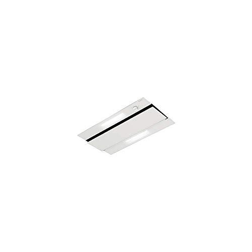 Novy 874 Dunstabzugshaube, 470 m³/h, Einbau-Dunstabzugshaube, transparent, weiß – Dunstabzugshaube (470 m³/h, Leitung, 59 dB, Deckeneinbau, Transparent, Weiß, Glas, Edelstahl)