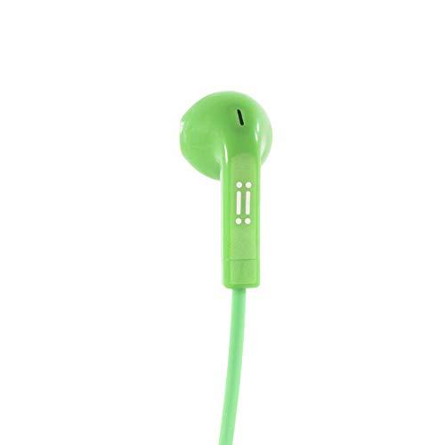 aiino - auricolari POP con adattatori ergonomici in silicone I Anti groviglio I Compatibilità Universale I Microfono multifunzionale - Verde