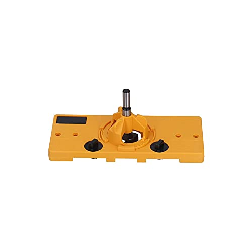 True Position Hardware Jig,Door Hinge Jig for Router,Quick Release Hinge,Hinge Hole Locator, Drilling Guide, Adjustable True Position Tools 35mm Hinge Hole for Hinge Kitchen