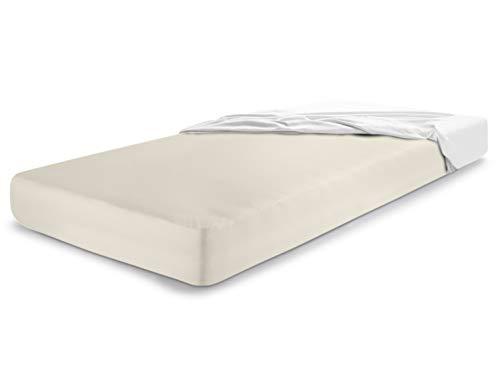 Molton Matratzenschutz von Dormisette - 1B-Ware - mit kleinen Schönheitsfehlern - perfekter Schutz für Ihre Matratze konfektioniert als Spannbetttuch - geprüft nach Öko-Tex Standard 100 - made in Germany - erhältlich in 3 verschiedenen Größen, 100 x 200 cm