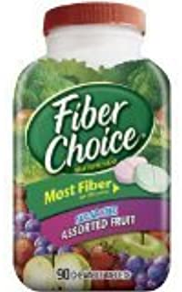 Fiber Choice Sugar Free, Assorted Fruit Chewables with Prebiotic Fiber