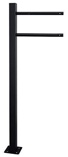 V2Aox brievenbus staander staander staande voeten staan vrijstaand zwart 1 voet