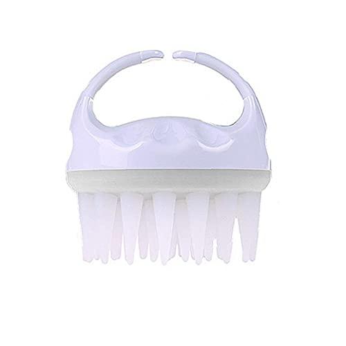 Hainice Champú Cepillo de baño Ducha Peine Cepillo para el Cuerpo de Silicona Limpia el Cuero cabelludo Cabeza Massager Sano Suave Masaje de Lavado de Pelo Adelgaza Comb White