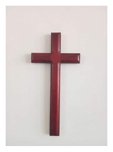 Cruz Cristiana Hecha a Mano sólido Colgar de la Pared de Madera de Jesús La Cruz Grande Iglesia Católica decoración de la Pared 31 Cm (Color : 1)