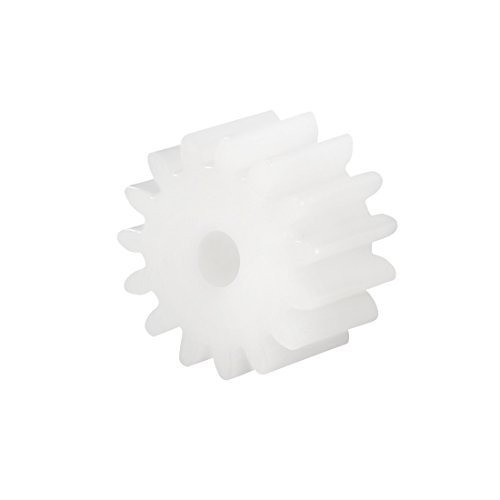 uxcell 40pcs Plastic Gears 16 Teeth Model 162A Reduction Gear Plastic Worm Gears for RC Car Robot Motor