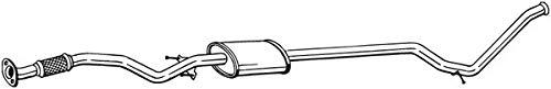 Preammer Mittelschalldämpfer Dämpfer, Abgasanlage
