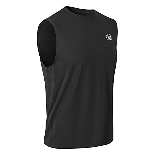 MEETWEE Tank Top Herren, Sportshirt Mesh Ärmelloses Shirt Achselshirt Unterhemd Muskelshirt Fitness Sleeveless T-Shirt Funktionsshirt Laufshirt für Männer