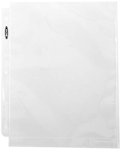 BCW 8x10 Photo Page 8x10 Photo Pages Photo Storage Binder, Ultra Clear (COMINU038307), 1-Pack