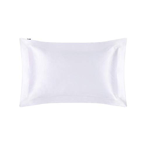 MTXD Funda de Almohada de la Funda de Seda de 1 Pieza con la Cubierta de la Almohada de la Mora ecológica Natural de la Cubierta de la Almohada del hogar 50x90cm (Color : White, Size : 40x40cm)