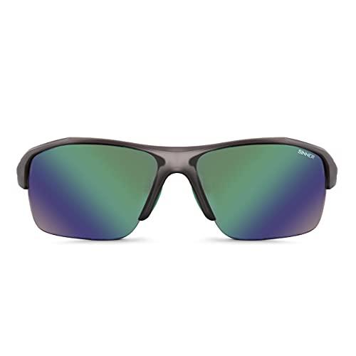 Sinner Gafas de sol Reyes CX en caja Matte Cry Grey Green Oil Orange Clear Lens