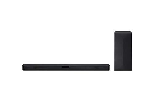 LG SN4 - Barra de Sonido (2.1 con 300 W de Potencia, DTS Virtual:X, subwoofer inalámbrico, Multi Bluetooth 4.0, HDMI, USB y Entrada óptica), Plateado