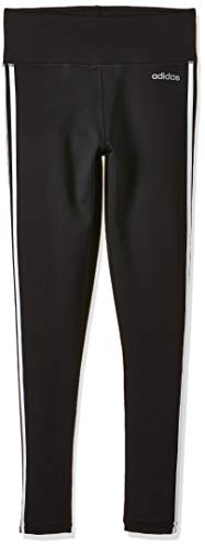 adidas Damen D2M 3-Streifen High-Rise Tights, Black/White, M