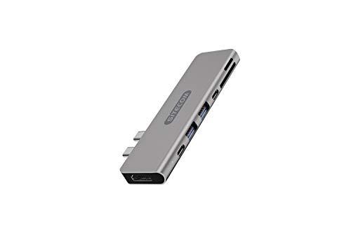 Sitecom CN-391 Adattatore multiporta Dual USB-C per MacBook Pro - 2x USB-C to 1x HDMI + 2x USB 3.1 + USB-C 3.1 + UBS-C 3.1 Power Delivery