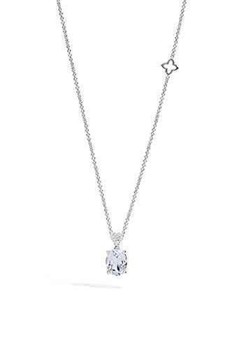 Collana Recarlo Acquamarina Modello Fiordaliso Diamanti Naturali Oro 18kt Donna P76OV001/AQ-45