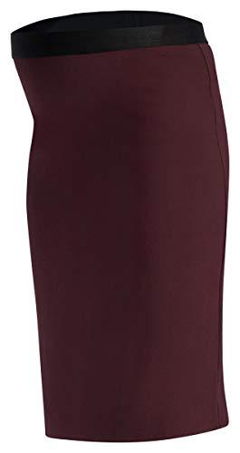 Queen Mum 73005445 Jupe longue pour femme Noir (900) - Rouge - 38