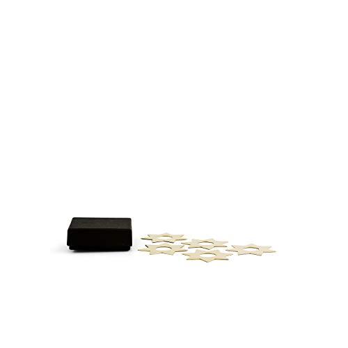 "Klong Kerzenmanschette ""CONSTELLA"" Kerzenringe Sterne in Messing - 5er Pack - Ø: 4 cm - Tropfenfänger - Tropfmanschette - Tropfring - Skandinavisches Design"