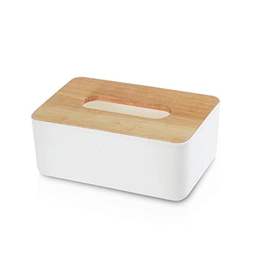 JWGD Caja de pañuelos Cubierta de Papel higiénico Caja de Papel higiénico Titular de servilleta sólido Funda Simple con Estilo Tisú Dispensador Home Auto Organizador (Color Shows)