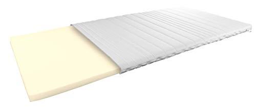 AM Qualitätsmatratzen Visco Topper 140 x 200 cm - 6 cm hoch - Anpassungsfähige, viscoelastische Matratzenauflage 140 x200 - Viskose Topper 6cm hoch - Made in Germany