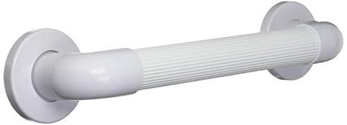 NRS Healthcare F19467 - Barra de apoyo de plástico y diseño estriado, 30 cm, color blanco