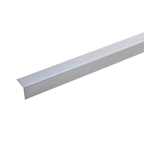 acerto 38136 Eckschutzprofil Aluminium, 125cm / 20 x 20mm * Selbstklebend * Made in Germany * Dreifach gekantet ohne Spitze | Winkel-Profil, Winkelleiste als Kantenschutz & Eckschutzschiene für Wände