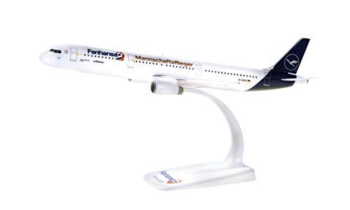 Herpa 612104 Lufthansa Airbus A321 Fanhansa Mannschaftsflieger Fußball Miniatur Flugzeug, Mehrfarbig