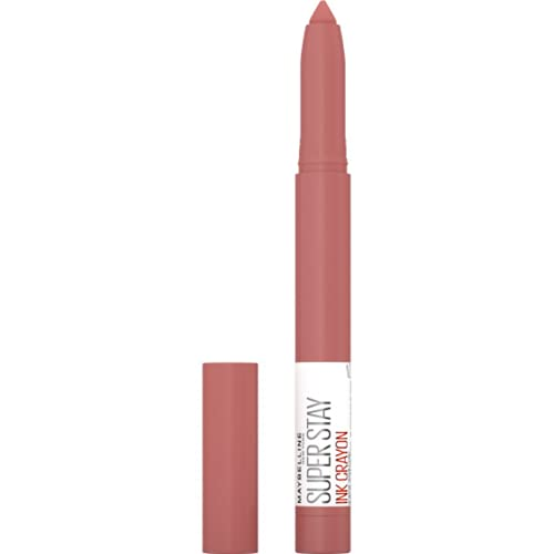 Maybelline New York SuperStay Ink Crayon Matte Longwear Lipstick Makeup With Built-in Sharpener, Achieve It All, 0.04 Oz
