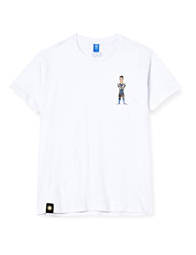 Inter Camiseta Characters Lautaro Unisex – Adulto, Unisex Adulto, Camiseta, TSLAU, Blanco,...
