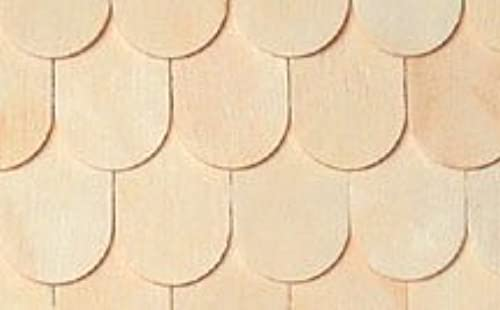 Dollhouse Miniature Unfinished Weißwood Fishscale Shingles by  Houseworks, Ltd.