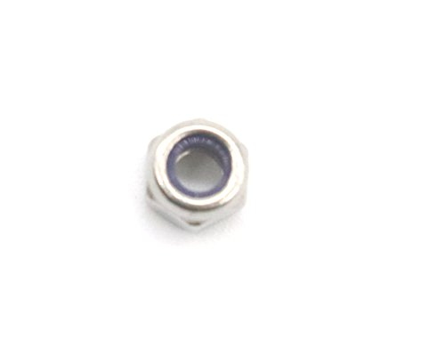 100Pcs M3 x 0.5mm 304 Stainless Steel Self-Lock Nylon Inserted Hex Lock Nuts, Self Clinching Nuts