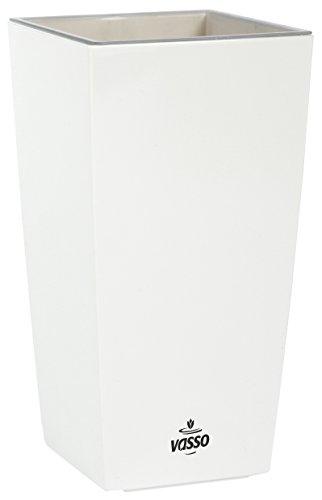 Vasso Kalika Vina Smart Pot, Bianco, 9.5x9.5x18.5 cm