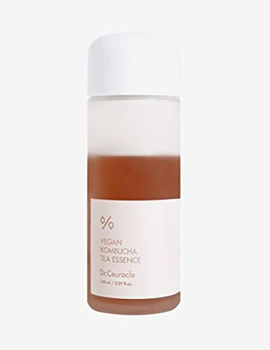 Dr.Ceuracle Vegan Kombucha Tea Essence 5.07 fl.oz.   Detoxifying impurities for healthy complexion and providing hydration, Vegan all in one essence for All skin Types with Kombucha Tea Extract