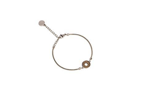 BeWooden Holzarmbänder in runder Form | Handketten mit Holzdetail | Circle Collektion | Mode Schmuck | Originales Geschenk | Stilvoll & Ökologisch | Handgefertigt (Rea Bracelet Circle)